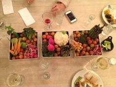 Arreglo de mesa, vegetariano