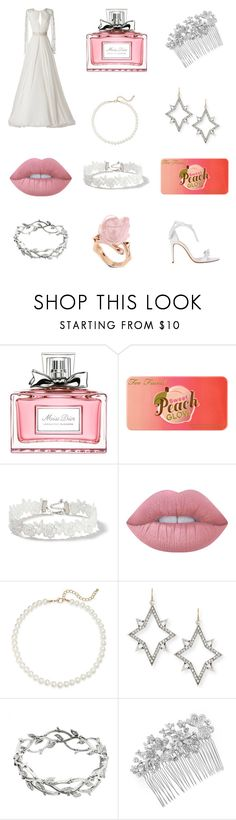 """""""Summer Wedding"""" by amythystrose ❤ liked on Polyvore featuring Jimmy Choo, Christian Dior, Too Faced Cosmetics, Miss Selfridge, Lime Crime, Saks Fifth Avenue, Lulu Frost, Tiffany & Co., Matthew Williamson and Alexandre Birman"""