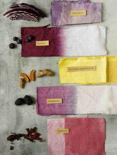 een warm plantenpalet - Home Decorating Ideas Fabric Dyeing Techniques, Textiles Techniques, How To Dye Fabric, Fabric Art, Tinta Natural, Natural Dye Fabric, Natural Dyeing, Textile Dyeing, Dyeing Fabric
