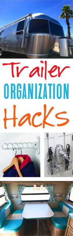 Trailer Organization!  Top ideas for RV living and organization! | NeverEndingJourneys.com
