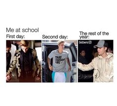 Justin Bieber.  Yep I would probably do that but I have to wear uniforms. Pinterest//mauriplayin