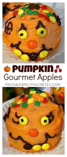 Very cute gift idea! It's a gourmet apple decorated to look like a pumpkin! Could sell these as a fundraiser too.