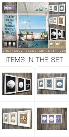 """""""Pretend you're at the Beach"""" by cristianaradu ❤ liked on Polyvore featuring art"""