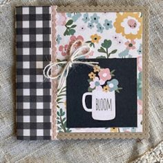 Pokerface, Simple Stories, Coffee Lovers, Twine, Note Cards, Card Making, Bloom, Spring Summer, Pottery