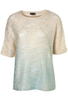 Dip Dye Foil Textured Sweat - Jersey Tops - Apparel - Topshop USA