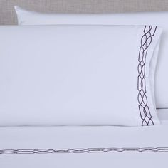 600 Thread Count Embroidered Pillowcase