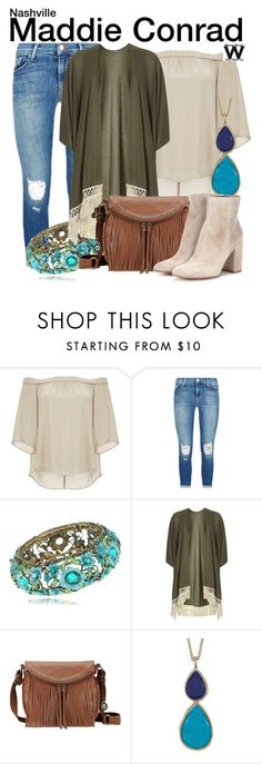 """Nashville"" by wearwhatyouwatch ❤ liked on Polyvore featuring DailyLook, J Brand, Dorothy Perkins, The Sak, Karen Kane, Gianvito Rossi, television and wearwhatyouwatch"