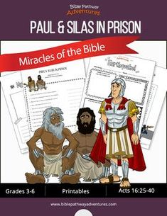 Miracles of the Bible: Paul Bible Resources, Bible Activities, Activity Books, School Teacher, Teacher Pay Teachers, Sabbath School Lesson, Paul And Silas, Bible For Kids, Puzzles For Kids