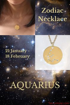 AQUARIUS. As an Aquarius, you're creative and ready to express yourself! This Aquarius pendant necklace is the perfect way to show off your unique and fun personality and showcase who you really are. Whether you surprise that carefree and fun-loving Aquarius in your life with this elegant necklace, or treat yourself to this dainty piece today. Body Jewelry, Jewellery, Style Fashion, Fashion Jewelry, Zodiac Sign Necklace, Constellation Necklace, Beaded Jewelry, Unique Jewelry, Fun Loving