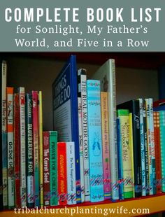I couldn't find one anywhere, so I put together a complete book list, combining recommendations from Sonlight, My Father's World, Before Five in a Row (BFIAR), Five in a Row (FIAR), and Veritas Press. For the Preschool, Pre-K, and Kindergarten homeschooling years. *phew*