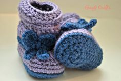 Crochet Slouchy Baby Boots with Bow Made to Order by EkayG on Etsy, $17.00
