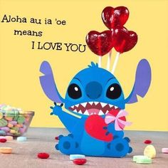 Share the love with Stich and other Disney-inspired crafts, recipes, and printables. My Funny Valentine, Disney Valentines, Valentine Crafts, Valentine Cartoon, Disney Dream, Disney Love, Disney Magic, Toothless And Stitch, Lelo And Stitch