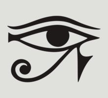 """EYE of Horus / Ra - ancient Egyptian symbol of protection"" Stickers by nitty-gritty Egyptian Symbol Tattoo, Egyptian Eye Tattoos, Egyptian Symbols, Ancient Symbols, Ancient Egypt, Eye Of Ra Tattoo, Zen Tattoo, Warrior Tattoos, Magic Symbols"