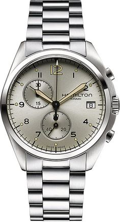 Hamilton Watch Khaki Aviation Pilot Pioneer Chrono Quartz #bezel-fixed #bracelet-strap-steel #brand-hamilton #case-depth-12-47mm #case-material-steel #case-width-41mm #chronograph-yes #date-yes #delivery-timescale-call-us #dial-colour-silver #gender-mens #luxury #movement-quartz-battery #official-stockist-for-hamilton-watches #packaging-hamilton-watch-packaging #style-dress #subcat-khaki-aviation #supplier-model-no-h76512155 #warranty-hamilton-official-2-year-guarantee #water-resistant-100m