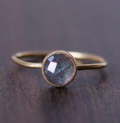 Round Labradorite Gold Ring by friedasophie on Etsy, $79.00