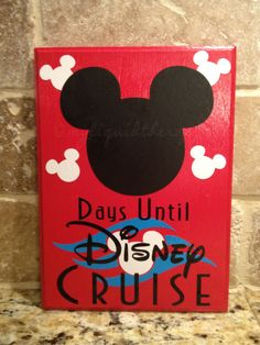Disney Cruise Chalkboard Countdown Calendar...as the weeks get closer this will be fun for L.