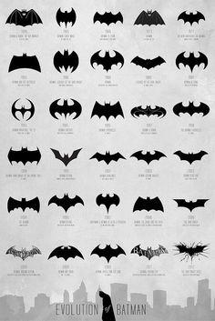 The Evolution Of The Bat Logo 1940 – 2012 [Chart]