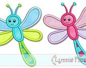 DRAGONFLY Applique 4x4 5x7 6x10 7x11 SVG  Machine Embroidery Design  INSTANT Download