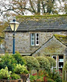 Stone cottages and Lamp post, Bolton Abbey, Yorkshire Dales (All Original Photography by vwcampervan-aldridge.tumblr.com)