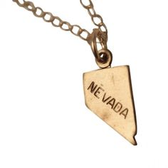 Nevada State Charm Necklace. #necklaces #jewelry   9thelm.com