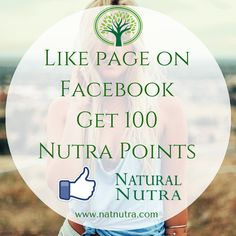 👍Like page on Facebook Get 100 Nutra Points💲