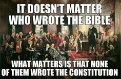 Separation of church and state is highlighted here as being dominant over religion.