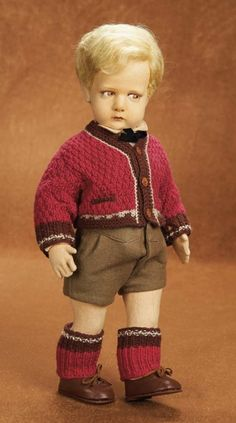 Remembering Mama: 73 Italian Felt Character Boy,Model 300/1,by Lenci