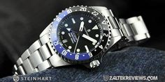 The Ocean 39 GMT Premium 500 is Steinhart's contemporary interpretation of a true Swiss made dive watch, with a high level of materials and components used. Gmt Batman, Steinhart Watch, 316l Stainless Steel, High Level, Rolex Watches, Ocean, Sea, The Ocean