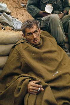 Larry Burrows's picture of a US soldier during Operation Pegasus, Khe Sanh, Vietnam, in April 1968.