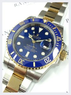 Rolex Steel & 18ct Yellow Gold Submariner Watch