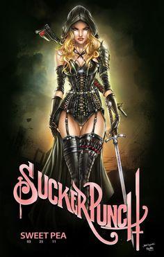 Sweet Pea; Badass movie - Sucker Punch;  Badass artwork - Jamie Tyndall