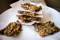 Try this Chia seeds crackers recipe, or contribute your own. Bread Alternatives, Energy Bars, Chia Seeds, Granola, Crackers, Appetizers, Milk, Herbs, Beef