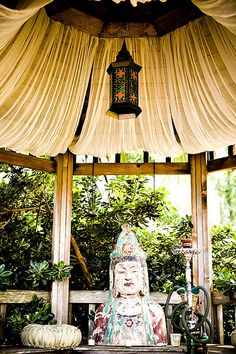 Gazebo: From our wedding last year. We hope to offer Quan Yin another beautiful home.