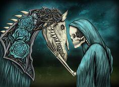 Artwork: Momento Mori, Gothic Skeleton & Horse Art | Shaire ...