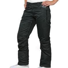 @Overstock - These Standoff snowboard pants from Zonal feature a sleek, solid-colored black and weatherproof construction. Keep warm, dry and a hold of all your necessities with these multi-pocket active pants.http://www.overstock.com/Clothing-Shoes/Zonal-Womens-Standoff-Caviar-Snowboard-Pants/7550222/product.html?CID=214117 $59.99