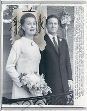 1966 Actors Cliff Robertson  Dina Merrill Wed Wire Photo