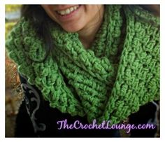 Chunky Bricks and Bobbles Cowl   The Crochet Lounge™   Free Crochet Pattern Q Hook, 1 strand of chunky or 2 strands of WW