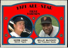 1972 Topps - 1971 All-Star First Basemen, Norm Cash, Detroit Tigers, Willie McCovey, San Francisco Giants, Baseball Cards That Never Were