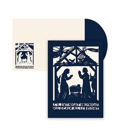 Laser Cut Holiday Greeting Cards   An evocative papercut Nativity by Nancy Stalbow for Masterpiece Studios  Christmas 2015.