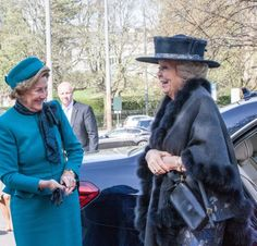 Queen Sonja of Norway and Princess Beatrix of the Netherlands got together on Saturday to open an art exhibition.