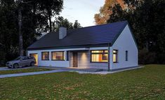 Projekt domu Murator C365h Przejrzysty - wariant VIII 91,6 m2 - koszt budowy 239 tys. zł - EXTRADOM My House, Building A House, House Plans, Garage Doors, Sweet Home, Outdoor Structures, Cabin, House Styles, Outdoor Decor