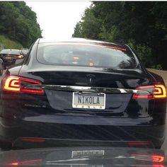 The best Tesla vanity plate.