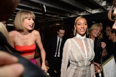 Pin for Later: Taylor Swift Understandably Lost All Chill While Running Into Beyoncé at the Grammys