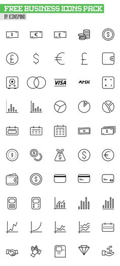 Free Business Icons Pack - 50 Icons (AI, PSD, EPS & Sketch) #freeicons #freepsdicons #lineicons #vectoricons #outlineicons