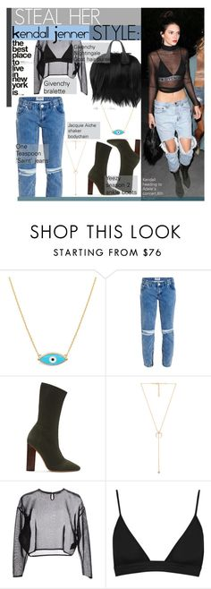 """""""Untitled #311"""" by dragansabina on Polyvore featuring One Teaspoon, YEEZY Season 2, Jacquie Aiche, Yves Saint Laurent and T By Alexander Wang"""