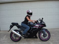 pink motorcycle | Pics of my pink and black bike and custom fender eliminator ...