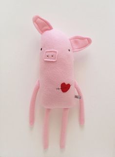 Love Pig with Heart and Arrow Tattoo by Finkelstein's contemporary-kids-toys