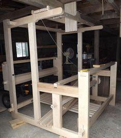 Building a loom Weaving Loom Diy, Rug Loom, Weaving Tools, Inkle Loom, Hand Weaving, Loom Machine, Spinning Yarn, Textiles, Weaving Patterns