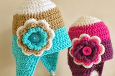 ...Handy Crafter...: Hat Stand Tutorial and Crochet Baby Hats