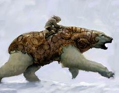 Golden Compass: Lyra and Iorek Byrnison